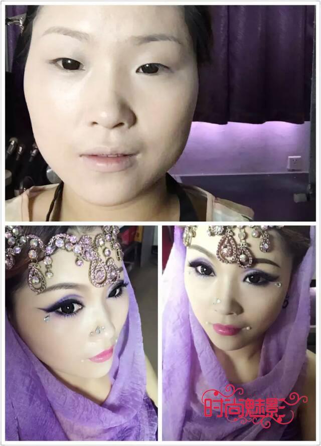 时尚魅影化妆学校各班级学员作品