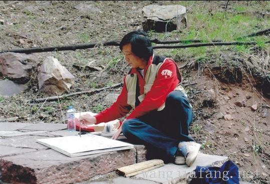 002 2006年上海画家重走长征路在金沙江畔写生.jpg